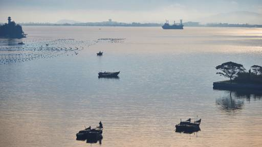 The Bay of Wonsan is seen from a hotel room in this October, 2016 photo in Wonsan, North Korea.