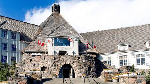 Timberline Lodge in Oregon was used in the filming of The Shining.