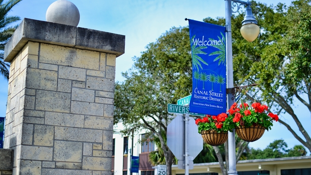 Canal Street, New Smyrna Beach, Florida